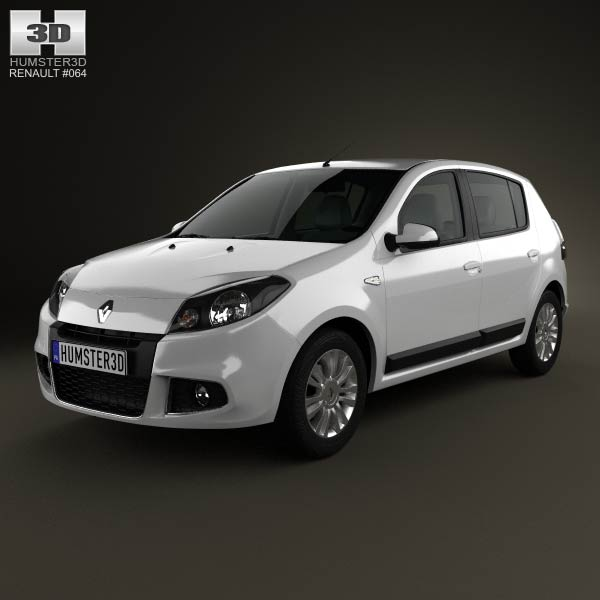 Renault Sandero (BR) 2011 3d car model