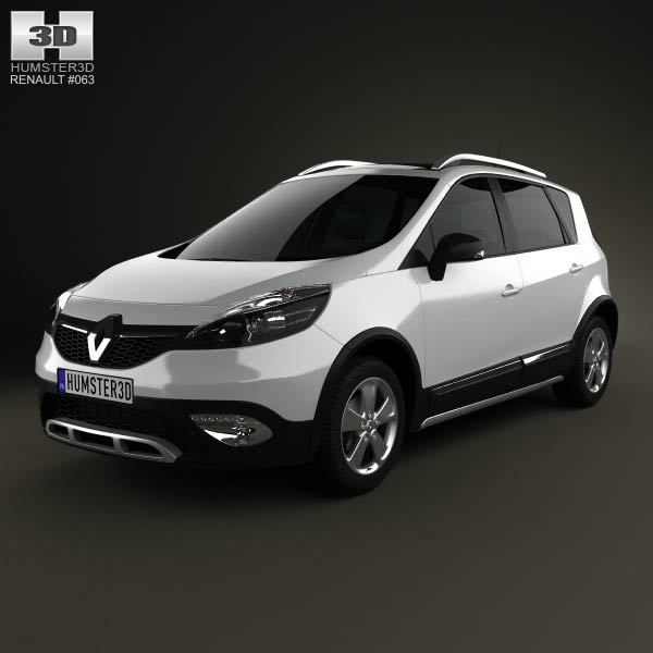 Renault Scenic XMOD 2013 3d car model