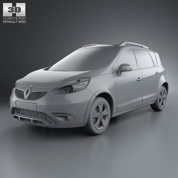 renault scenic xmod 2013 3d model humster3d. Black Bedroom Furniture Sets. Home Design Ideas