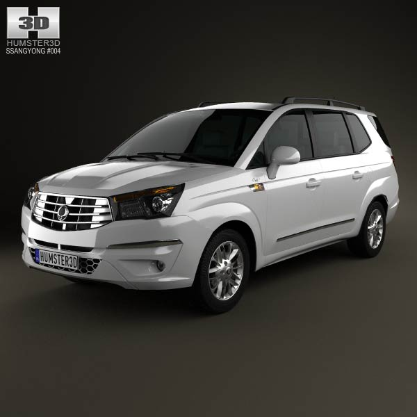 SsangYong Rodius 2013 3d car model