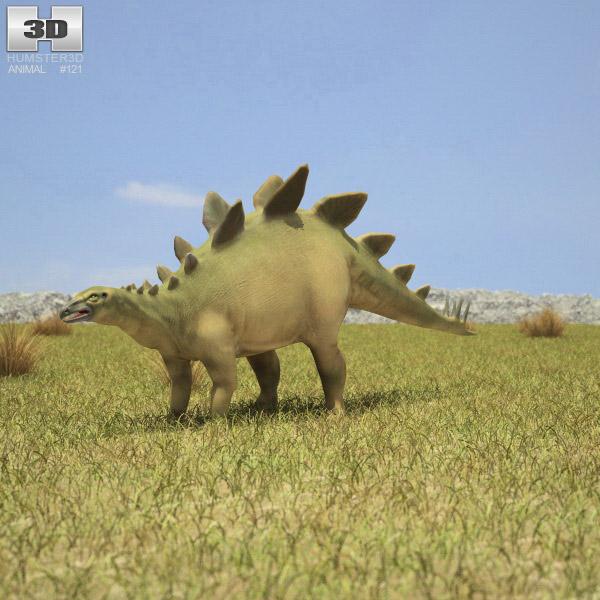 3D model of Stegosaurus