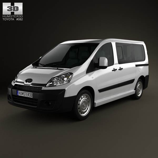 3D model of Toyota ProAce Combi L1H1 2012