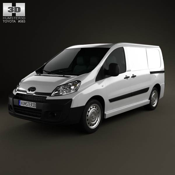 Toyota ProAce Van L1H1 2012 3d car model