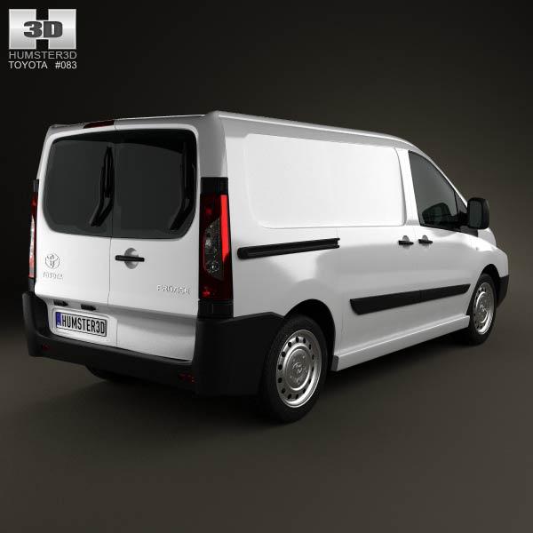 Toyota ProAce Van L1H1 2012 3d model
