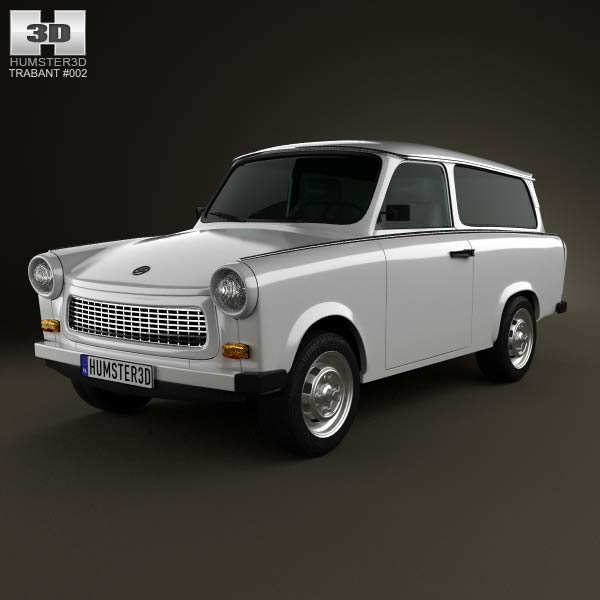 Trabant 601 Kombi 1965 3d model
