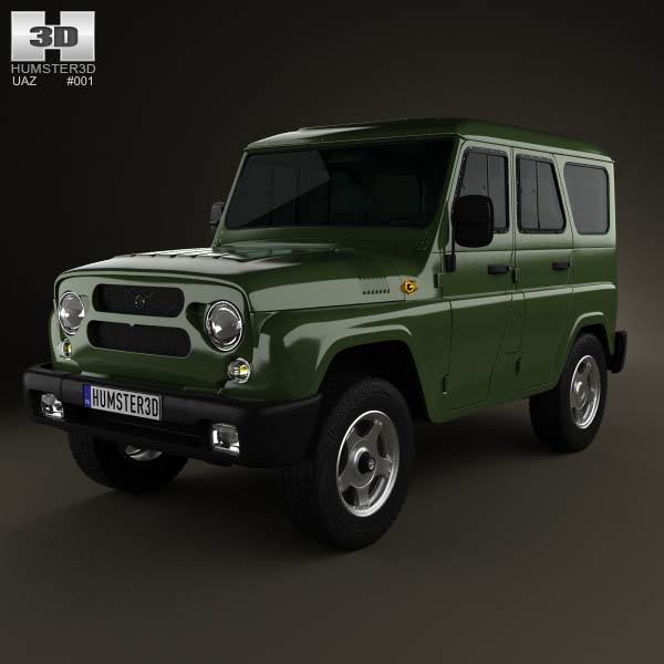 UAZ Hunter (315195) 2012 3d car model