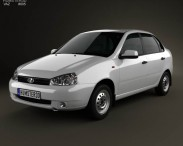 3D model of Lada Kalina (1118) sedan 2011