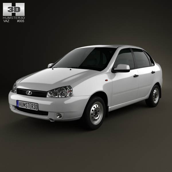 Lada Kalina (1118) sedan 2011 3d car model