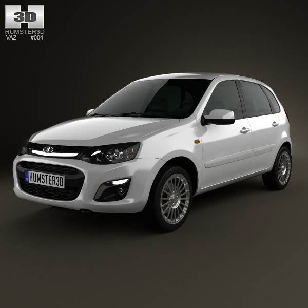 Lada Kalina 2 hatchback 2013 3d car model