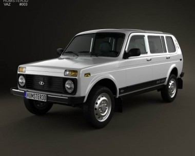 3D model of Lada Niva 4×4 2131 2012