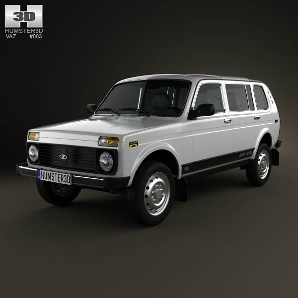 Lada Niva 4×4 2131 2012 3d car model