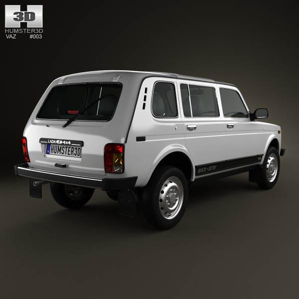 Lada Niva 4×4 2131 2012 3d model