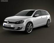 3D model of Volkswagen Golf Mk7 variant 2014