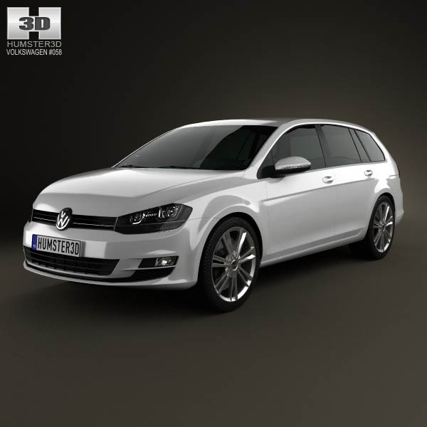 Volkswagen Golf Mk7 variant 2014 3d car model
