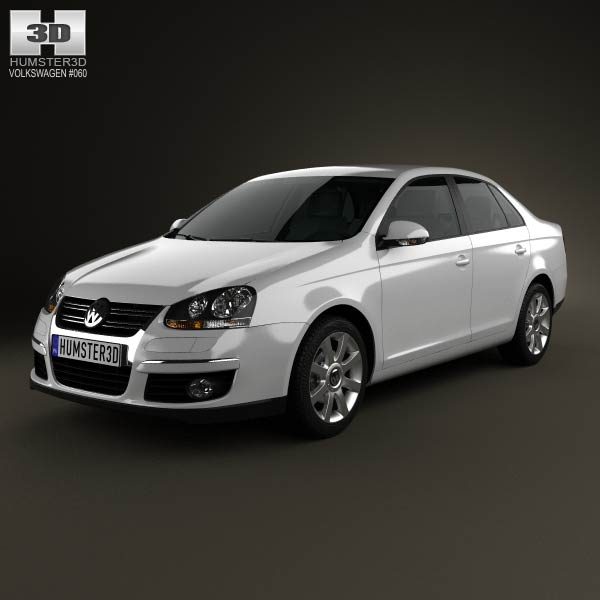 Volkswagen Jetta (A5) 2010 3d car model