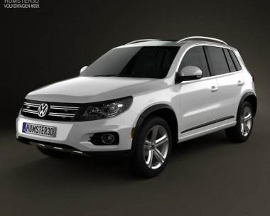 3D model of Volkswagen Tiguan Track & Style R-Line US 2013