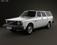 3D model of Volvo 245 wagon 1975