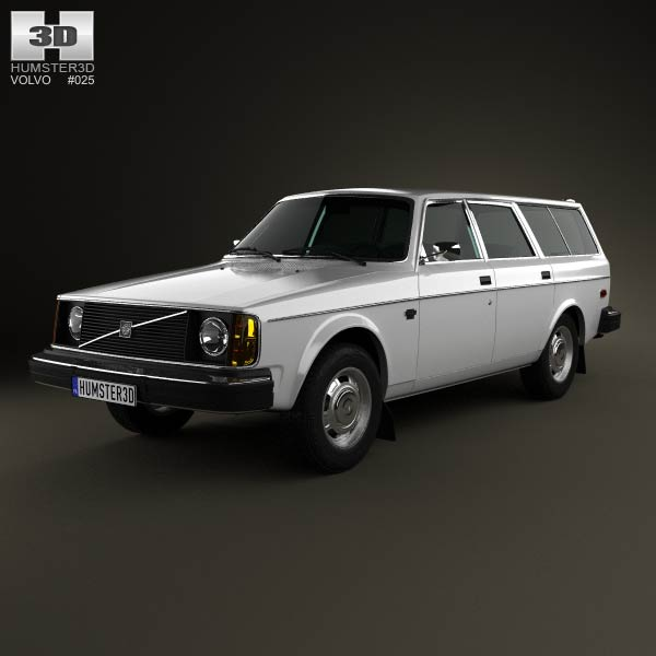 Volvo 245 wagon 1975 3d car model