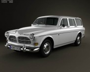 3D model of Volvo Amazon wagon 1961