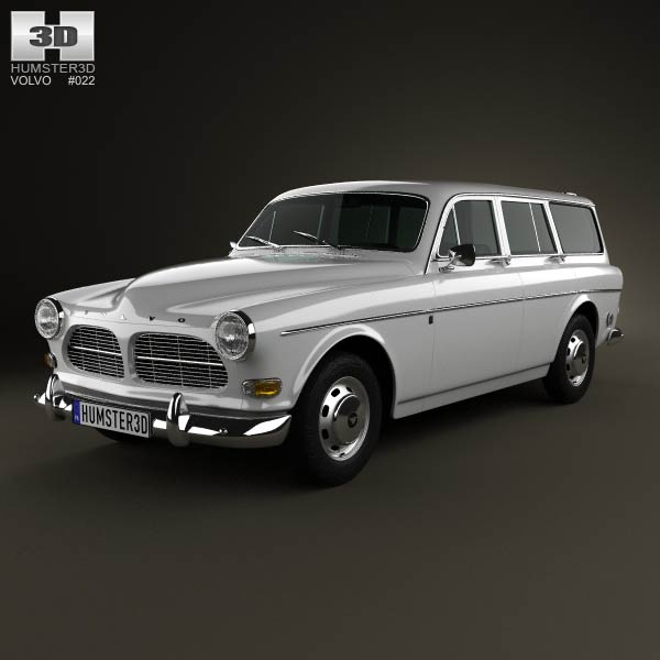 Volvo Amazon wagon 1961 3d car model