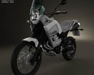 3D model of Yamaha XT660Z Tenere 2012