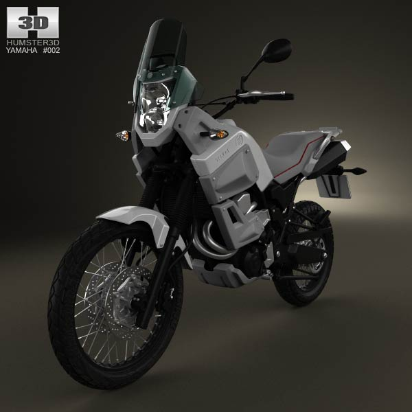 Yamaha XT660Z Tenere 2012 3d car model