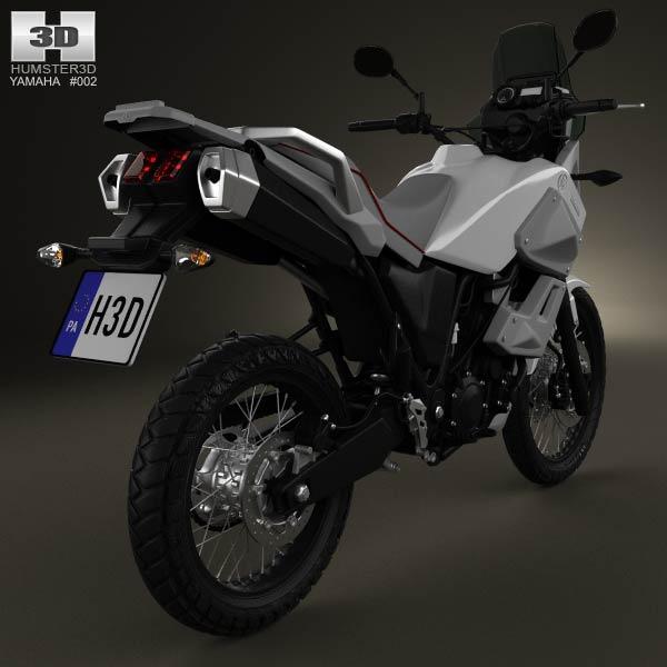 Yamaha XT660Z Tenere 2012 3d model