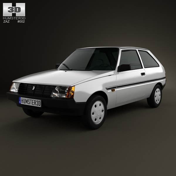 ZAZ Tavria (1102) 1990 3d car model