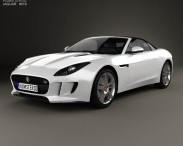 3D model of Jaguar F-Type S convertible 2013