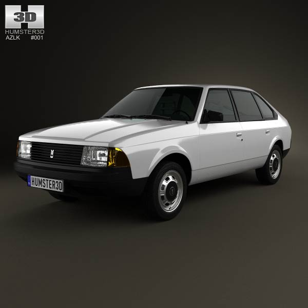 AZLK Moskvitch 2141 Aleko 1986 3d car model