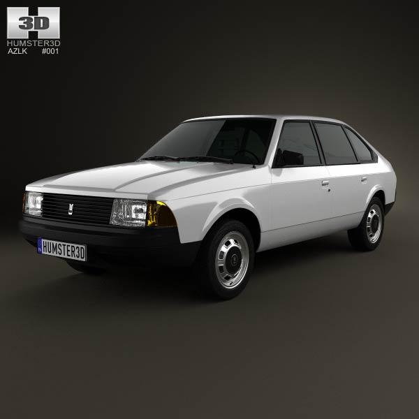 AZLK Moskvitch 2141 Aleko 1986 3d car model