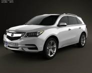 3D model of Acura MDX 2014