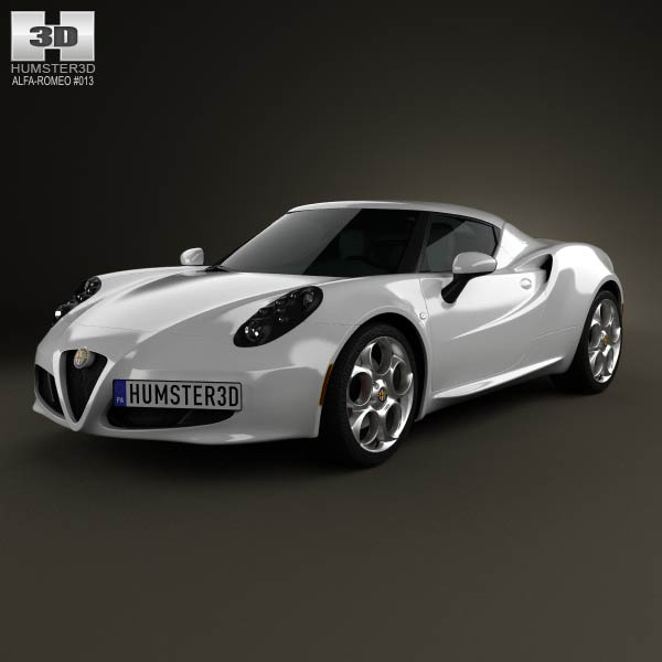 Alfa Romeo 4C 2014 3d car model