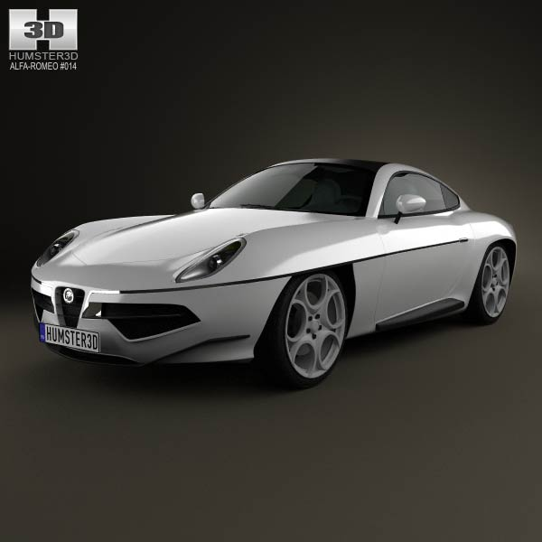 Alfa Romeo Disco Volante Touring 2013 3d car model