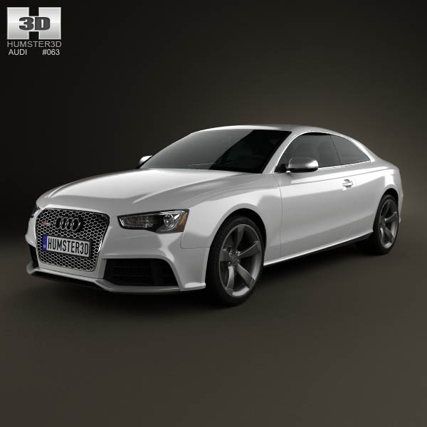 Audi RS5 coupe 2012 3d car model