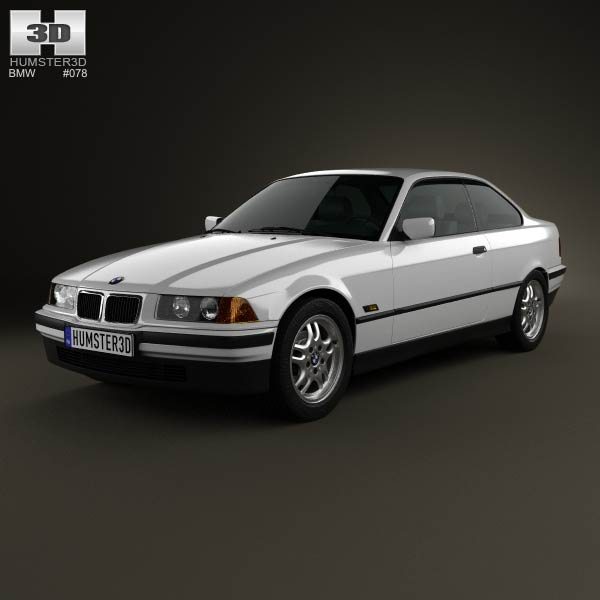 BMW 3 Series (E36) coupe 1994 3d car model