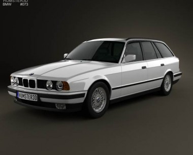 3D model of BMW 5 Series touring (E34) 1993