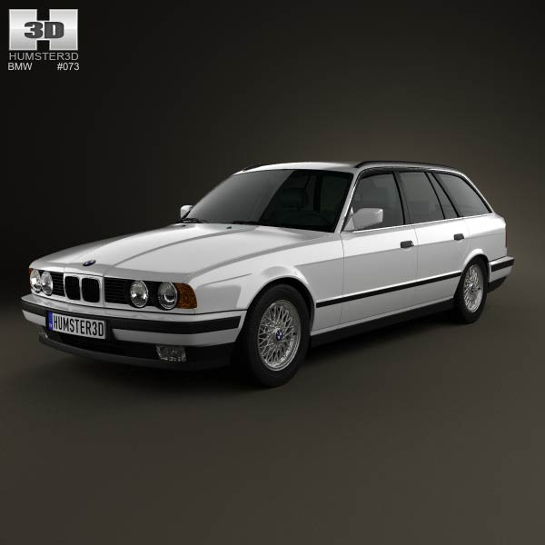 BMW 5 Series touring (E34) 1993 3d car model