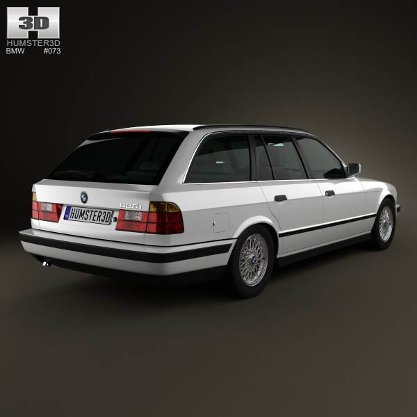 BMW 5 Series touring (E34) 1993 3d model