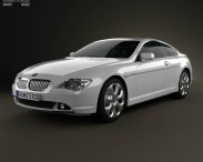 3D model of BMW 6 Series (E63) coupe 2004