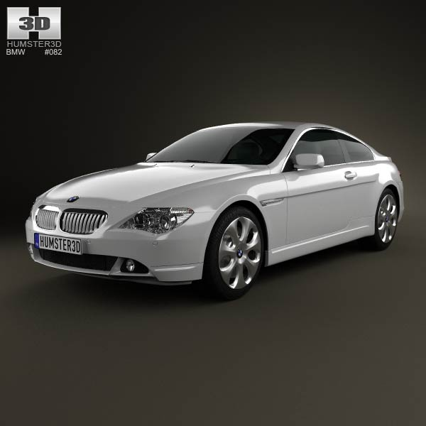 BMW 6 Series (E63) coupe 2004 3d car model