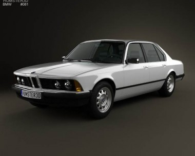 3D model of BMW 7 Series (E23) 1982