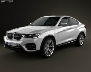 3D model of BMW X4 2014 Concept