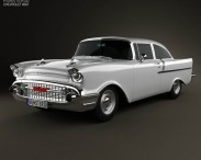 3D model of Chevrolet 150 2-door sedan 1957