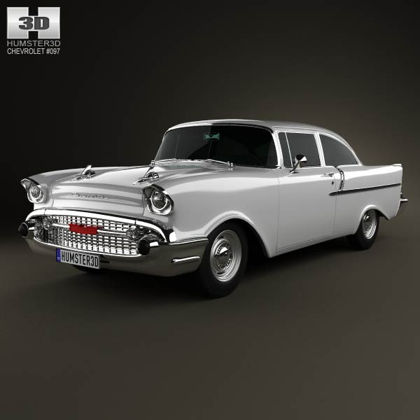 Chevrolet 150 2-door sedan 1957 3d car model
