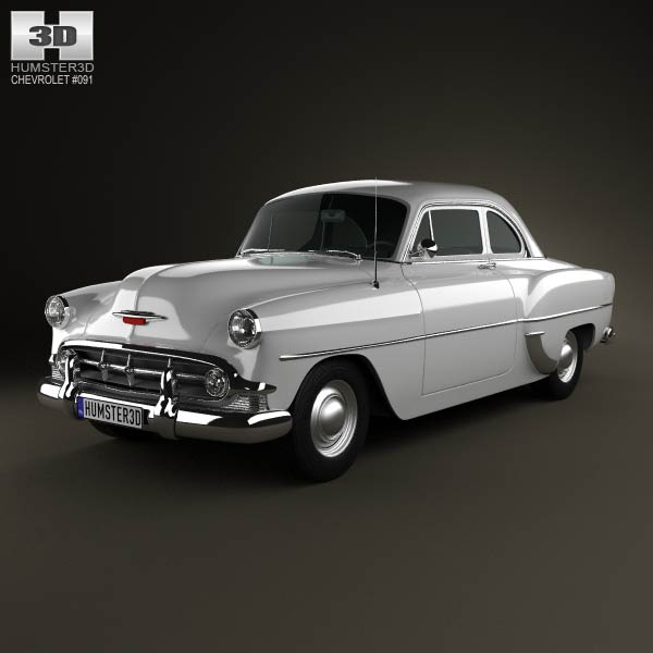 Chevrolet 210 Club Coupe 1953 3d car model