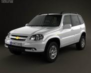 3D model of Chevrolet Niva 2012