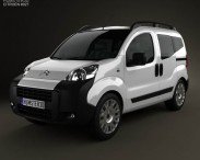 3D model of Citroen Nemo Multispace 2011