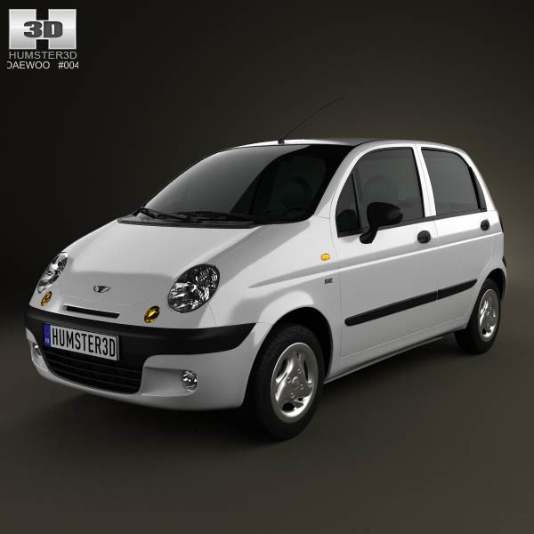 Daewoo Matiz M150 2011 3d car model