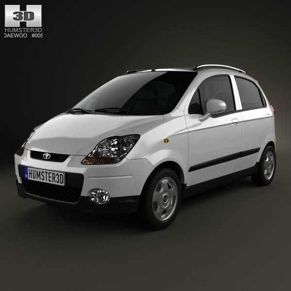 Daewoo Matiz M250 2011 3d car model